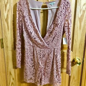 Pink Romper from Charlotte Russe